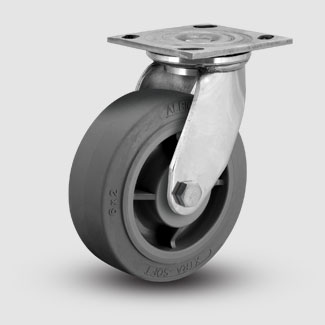 stainless steel caster xs rubber wheel