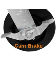 locking casters, cam brake, side brake, heavy duty, light duty