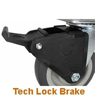 Medium Duty , light duty, locking casters for carts and equipment