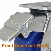 swivel lock, total locking casters